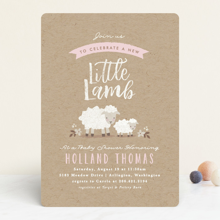Lamb Baby Shower A Sweet Little Lamb is on the Way Personalized Cocktail Napkins Set of 25