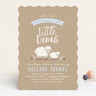 Attractive Little Lamb Baby Shower Invitations