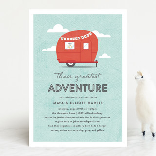 Cute Camper Baby Shower Invitations