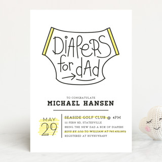 Diapers for dad baby shower invitations by christi minted diapers for dad baby shower invitations filmwisefo