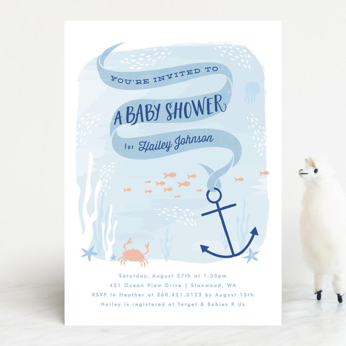 Dreamy Ocean Baby Shower Invitations By