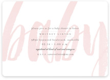 This is a pink baby shower invitation by Sara Hicks Malone called Whisper with standard printing on signature in standard.