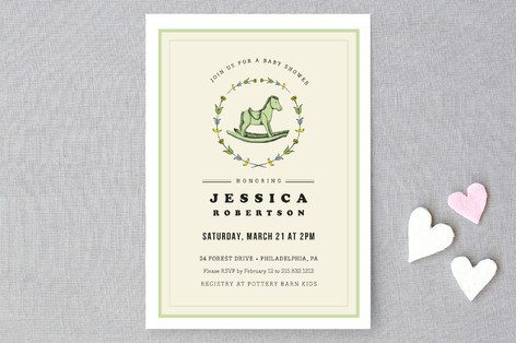 Rocking Horse Baby Shower Invitations