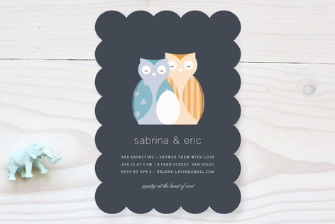 Nestled Owls Baby Shower Invitations