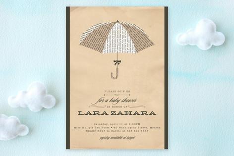 Umbrella of Advice Baby Shower Invitations