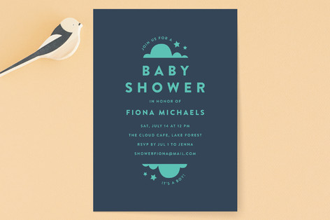 minimalist baby Baby Shower Invitations