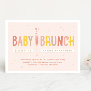 Baby Brunch Baby Shower Invitations by Erica Kryst Minted