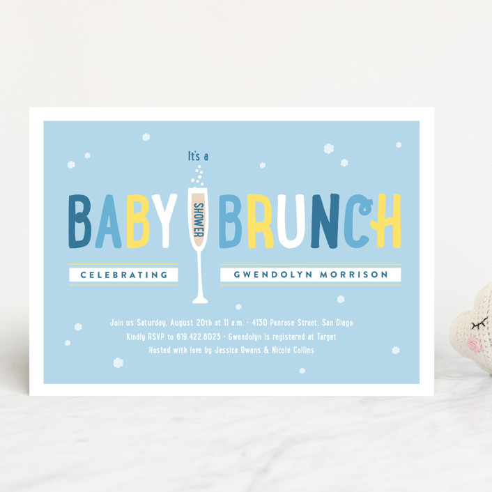 Baby Brunch Shower Invitations By