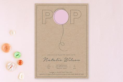 balloon pop Baby Shower Invitations