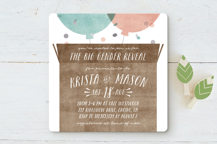 box reveal baby shower invitations by leah bisch minted