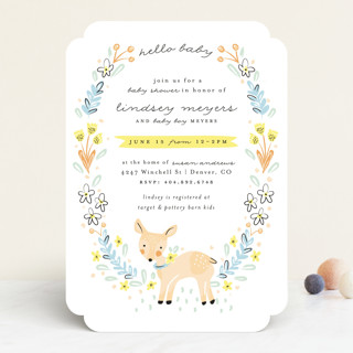 Little Dear Baby Shower Invitations