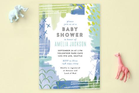 Pattern Mix Match Baby Shower Invitations