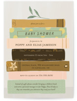 This is a yellow baby shower invitation by Lottie Made Co called Book Lovers with standard printing on signature in standard.