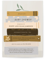 This is a beige baby shower invitation by Lottie Made Co called Book Lovers with standard printing on signature in standard.