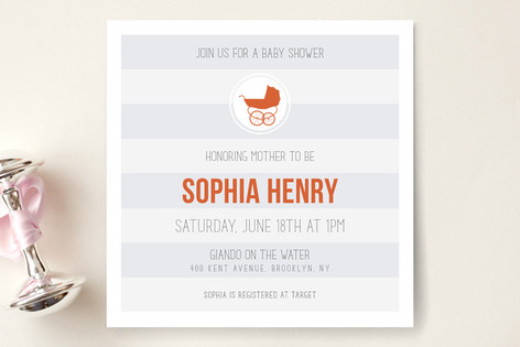 Urban Baby Baby Shower Invitations