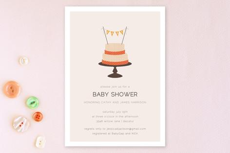 Baby Cake Baby Shower Invitations