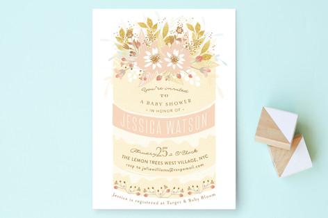 Beautiful Cake Baby Shower Invitations