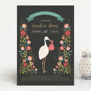 Delivery in the garden baby shower invitations by minted delivery in the garden baby shower invitations filmwisefo