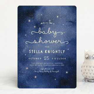 Celestial Baby Shower Invitations