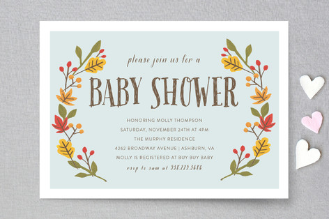 Giving Thanks Baby Shower Invitations