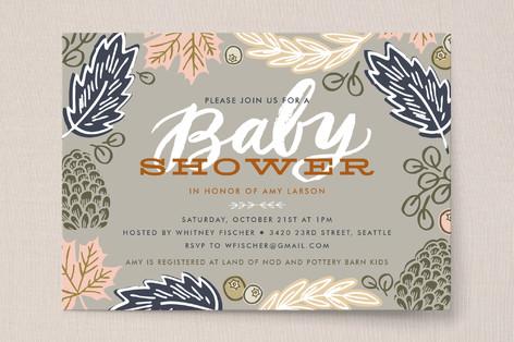 Fall Foliage Baby Shower Invitations
