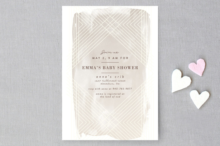 """""""Masked Wash"""" - Modern Baby Shower Invitations in Passion Fruit by Rebecca Bowen."""