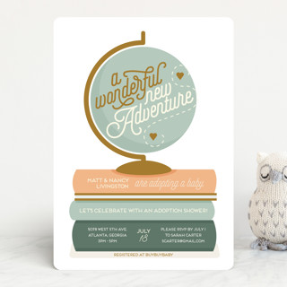 Adventure with Adoption Baby Shower Invitations
