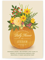 This is a orange baby shower invitation by Jessica Ogden called Autumn Bouquet with standard printing on signature in standard.