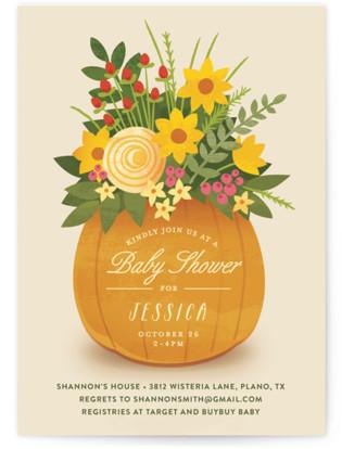 Autumn Bouquet Baby Shower Invitations