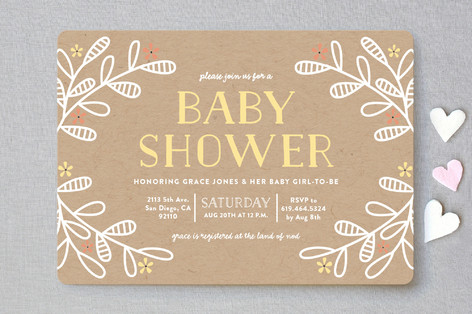 Baby Bloom Baby Shower Invitations