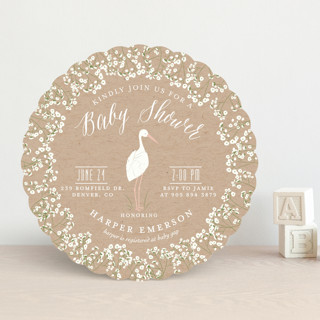 Baby's Breath Baby Shower Invitations