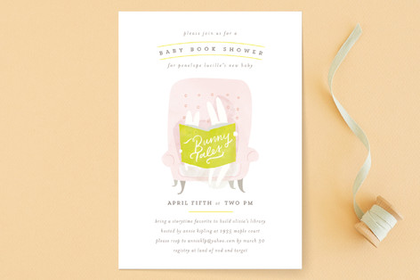 Bunny Tales Baby Shower Invitations