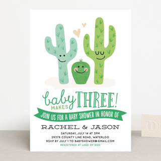 Cactus Cutie Baby Shower Invitations