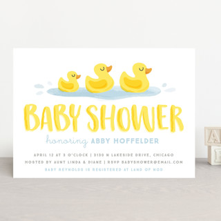 Rubber Duckies Baby Shower Invitations by Jessie S Minted