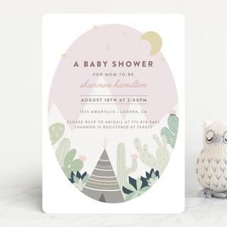 Cactus Garden Baby Shower Invitations