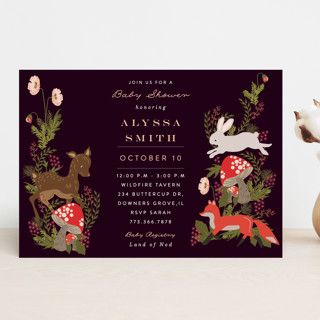 Fall Forest Baby Shower Invitations