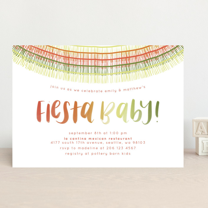 """Fiesta Baby"" - Baby Shower Invitations in Maraca by Anchored Paper Co.."