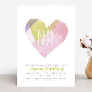 crafted heart Baby Shower Invitations