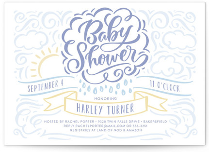 Raining Love Baby Shower Invitations
