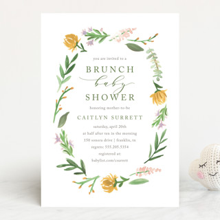 English Garden Baby Shower Invitations