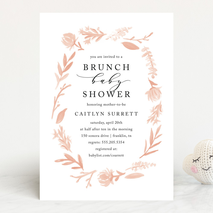 """English Garden"" - Baby Shower Invitations in Goldenrod by Amy Kross."