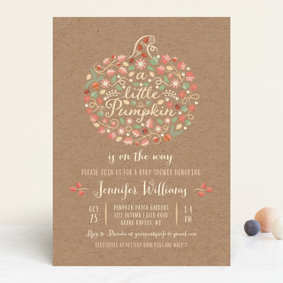 Little pumpkin baby shower invitations by paper su minted little pumpkin baby shower invitations filmwisefo