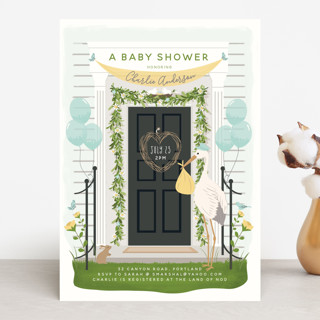 Front Door Delivery Baby Shower Invitations