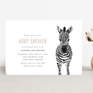 Baby Animal Zebra Baby Shower Invitations