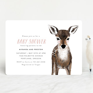 Baby Animal Deer Baby Shower Invitations