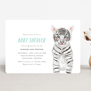 Baby Animal Tiger Baby Shower Invitations