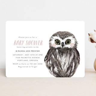 Baby Animal Owl Baby Shower Invitations