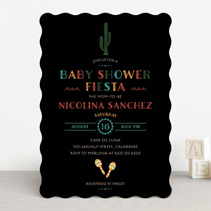 """fun fiesta"" - Baby Shower Invitations in Confetti by Jennifer Lew."