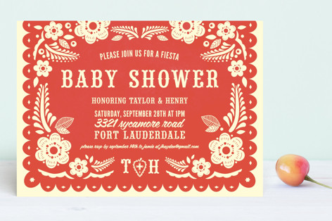 Papel Picado Baby Shower Invitations