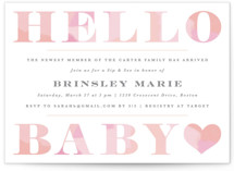 This is a pink baby shower invitation by Creo Study called Hello Sweet baby with standard printing on signature in standard.